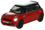 Oxford New Mini Chilli Red 1:76 Scale Diecast Model