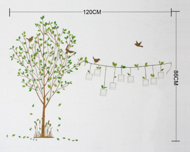 Life Tree Photo Frame Kids Room Removable Quote Vinyl Wall Decals - Wall decals nz