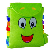 """BUCKLE TOY """"Buddy"""" Backpack – Toddler Early Learning Basic Life Skills Children's Plush Travel Activity"""