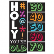 Creative Converting Holy Bleep Giant Party Banner with Stickers