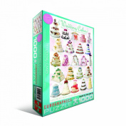Jigsaw Puzzle 1000 Pieces 49cm x 70cm -Wedding Cakes