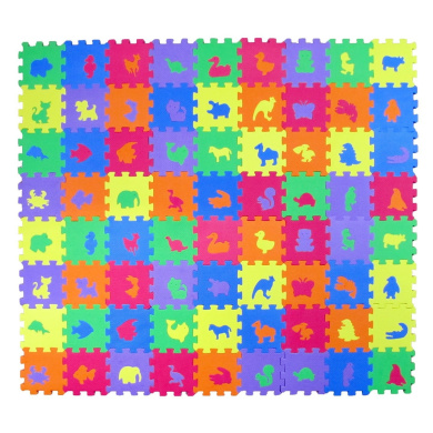 Animal Zoo Educational Foam Puzzle Floor Mat For Kids 72