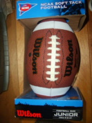 Wilson NCAA Soft Tack Football, Junior Size