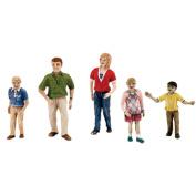 Scene Setters(R) Figurines-Family 3.8cm 5/pkg