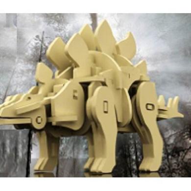 Robotime 3D Wooden Robotic Puzzle Stegasaurus, Medium