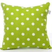 Sweet Potato Dottie Small Green Dot Pillow