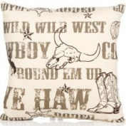 Glenna Jean Carson Cowboy Print Throw Pillow