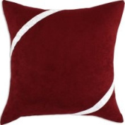 Chooty and Co. Cinnabar White Bubble Ribbon Decorative Pillow