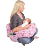 Leachco Inc Ease Back Nursing Pillow Pink 4 Squares