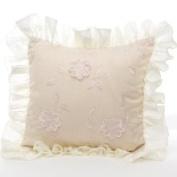 Glenna Jean Ava Pillows Floral Overlay w/ Ruffle