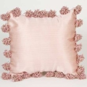 Glenna Jean Madison Pillows Pink Pillow with Pom Poms