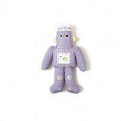 Purple Robot Shape Pillow