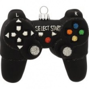 Handheld Video Game Controller Glass Holiday Christmas Ornament
