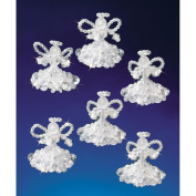 Beadery 154535 Holiday Beaded Ornament Kit-Crystal Angels 2 in. Makes 6