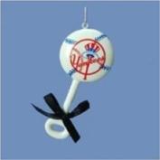 Kurt Adler 10.2cm Polyresin New York Yankees Baby Rattle Ornament