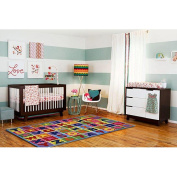 Fun Rugs Fun Time Numbers and Letters Rectangle Rug, Multi-Colour