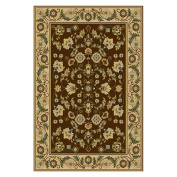 Central Oriental Interlude Cambridge Brown Rug Rug Size
