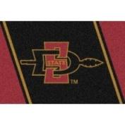 Milliken San Diego State Aztecs 2'20.3cm x 3'25.4cm Team Spirit Area Rug