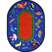 Joy Carpets 3'25.4cm x 5'10.2cm Oval Walk in Faith - Multi - 1608BB