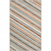 Candice Olson Modern Classics Pigeon Grey Stripes Rug Rug Size