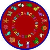 ABC Animals 7'18cm Round Red