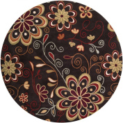 Surya Athena ATH-5037 Transitional Hand Tufted 100% Wool Espresso 2.4m Round Floral Area Rug