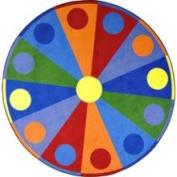 Colour Wheel Rug - Oval