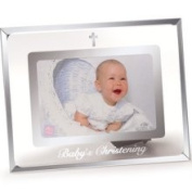 Russ Berrie & Company Baby's Christening Frame, Silver Cross