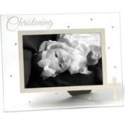 Russ Berrie Small Blessings Christening Glass Photo Frame