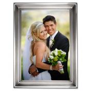 Lawrence Frames 609057 Lawrence Frames Brushed Pewter 5x7 Metal Picture Frame