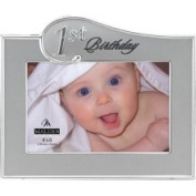 Malden 4x6 1st Birthday 2-Tone Metal Picture Frame