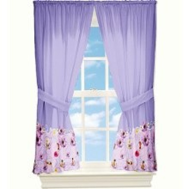Disney fairies wind curtain set tinkerbell floral window drapes http