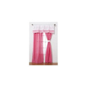 Simplicity Hot Pink Drapes - 2 Panels - 112cm x 206cm
