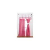 Simplicity Hot Pink Drapes - 2 Panels - 112cm x 206cm