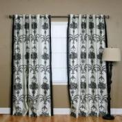 Best Home Fashion Black Velvet 213cm Damask Curtain