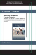 Managing Hospitality Human Resources Online Component (Ahlei) -- Access Card