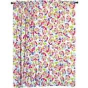 Room Magic Heart Throb Cotton Rod Pocket Curtain Panel Pair