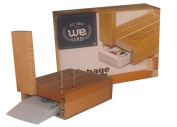 Wooden 2 track cribbage with playing cards and 4 metal counting pegs. Storage inside board for c...