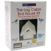 Pinepro Log Cabin Wood Bird House Kit, Unfinished