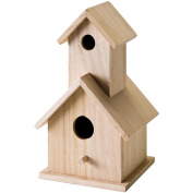 Mini Wood Two Story Birdhouse