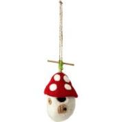 Dzi Handmade Designs 20789 Mushroom Worm Felt Birdhouse