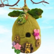 Dzi Handmade Designs Felt Birdhouse Forest Flowers, Fair Trade Product