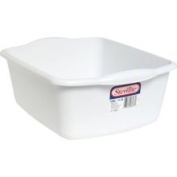 DDI Sterilite White Plastic Dishpan- Case of 12