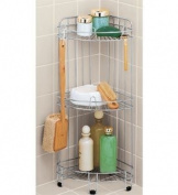 Whitmor 6060-3572-BB 3-Tier Wire Shower Shelf, Deluxe, Chrome