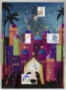 Nativity Silhouette Advent Calendar