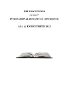 The Proceedings of the 17th International Humanities Conference