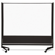 Balt / MooreCo - 74902 - D.O.C. Mobile Double-Sided Marker Board Divider, 72 x 72, Black