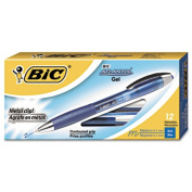 Bic RATG11-BE Atlantis Retractable Gel Ballpoint 0.7 mm Medium Blue Dozen