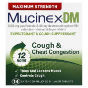DM Max Strength Expectorant and Cough Suppressant, 14 Tablets/Box