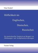 H Flichkeit Im Englischen, Deutschen, Russischen [GER]
